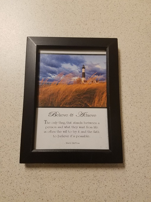 Believe And Achieve Phrase Picture Frame  Black XEN251