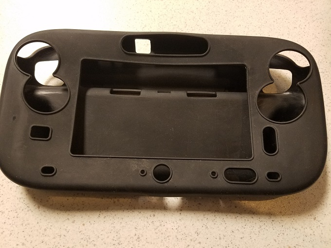 Game Pad Silicone Case Black For Wii U THH322
