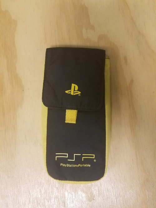 Image 0 of Yellow And Black Nylon Carry Pouch For PSP