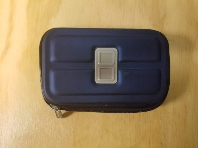 ALS Hard Shell Eva Protective Travel Carry Case Blue Game For DS