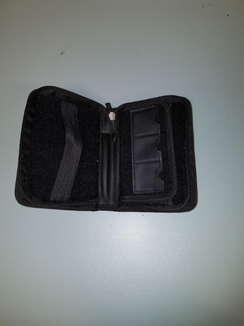 Image 2 of Mini Zippered Folio For Nintendo Black Game For DS