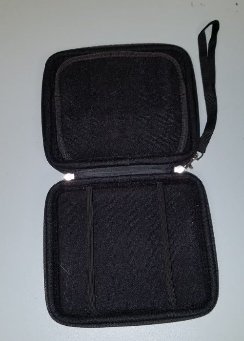 Image 2 of Austor 2DS Zippered Travel Game Carry Case Black For DS