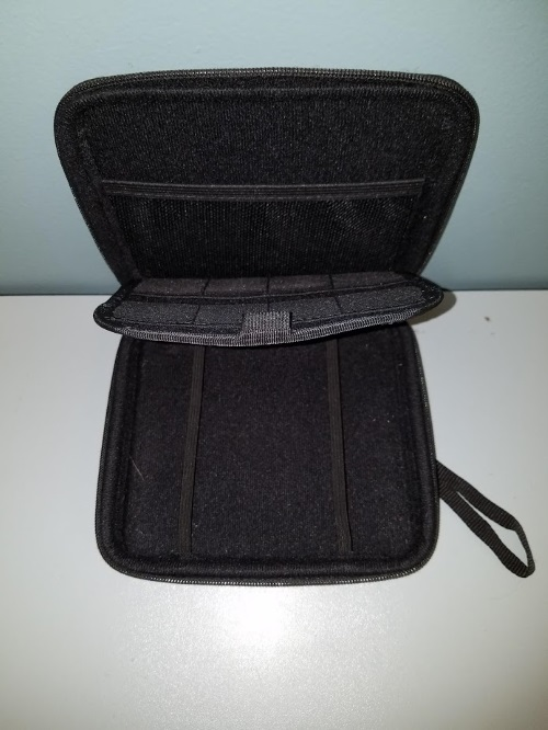 Image 3 of Austor 2DS Zippered Travel Game Carry Case Black For DS