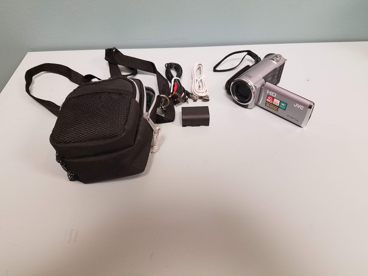 JVC Everio HD Camcorder 40X Optical Zoom Silver Point And GZ-HM30SU Camera & Poc