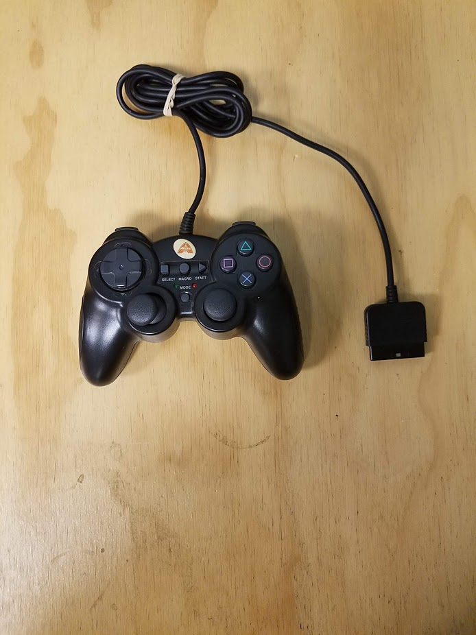 Arsenal Gaming Dual Shock Controller Black PS2 Gamepad For PlayStation 2