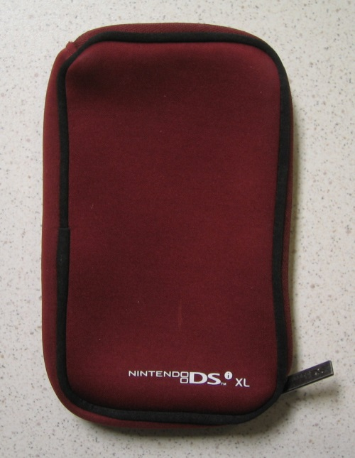 Bd&a Burgundy Zippered Pouch For Nintendo I XL For DS DSi
