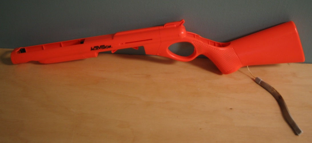 Activision Cabelas Topshot Peripheral Gun For Wii Orange