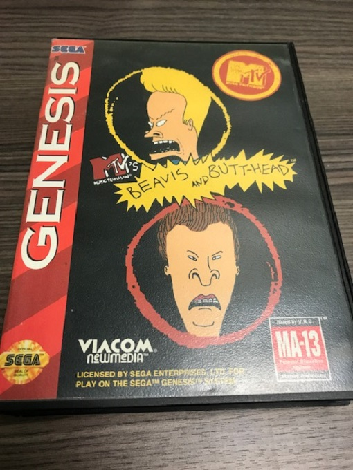 Beavis And Butt-Head For Sega Genesis Vintage With Manual And Case