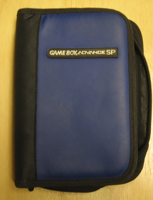 BD&A Universal Game Folio Navy Leather Like Blue Black GBA Boy Advance For GBA G