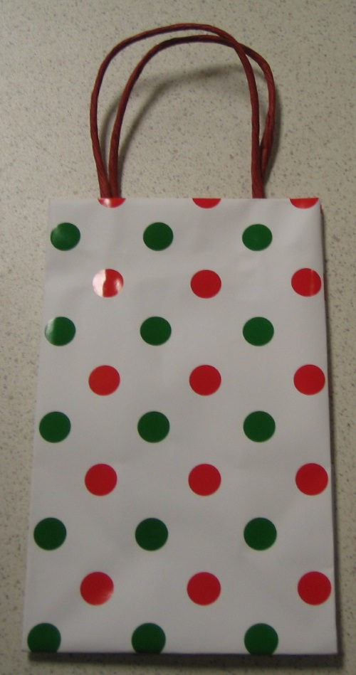 Case Of 54 Spiritz Red And Green Polka Dot Gift Bags Multi-Color Small