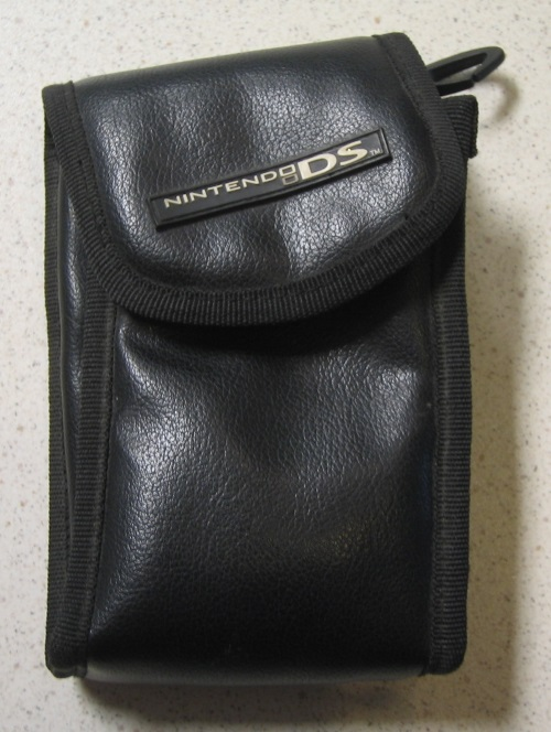 BD&A Leatherette Pouch Travel Carry Case Black For DS