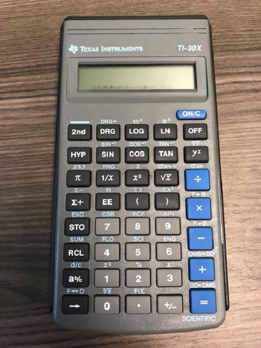 Basic TI-30X Calculator