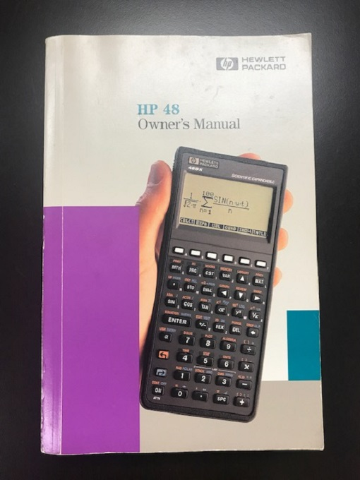 Hewlett Packard 48 Scientific Calculator Owners Book