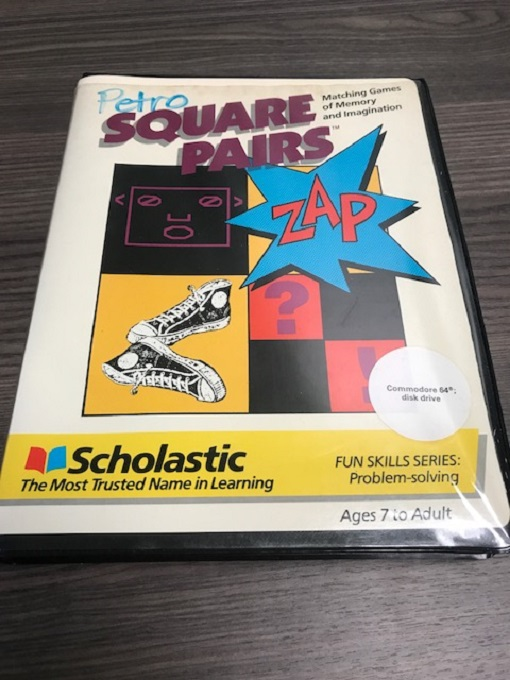 Square Pairs Learning Game For Commodore 64