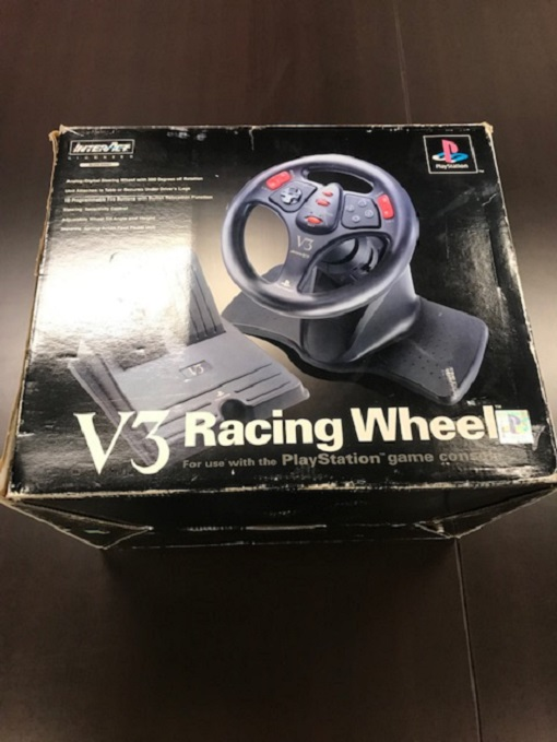 Sony V3 Racing Wheel For PlayStation 3 PS3 Black