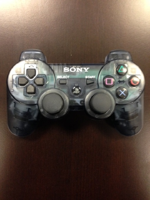 sony dualshock wireless controller clear smoke ps3 for. Black Bedroom Furniture Sets. Home Design Ideas