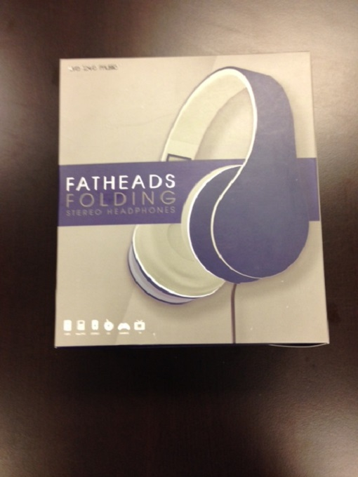Purple Fatheads Folding Stereo Headphones Earphones Purple