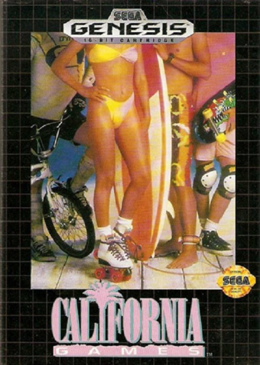California Games For Sega Genesis Vintage