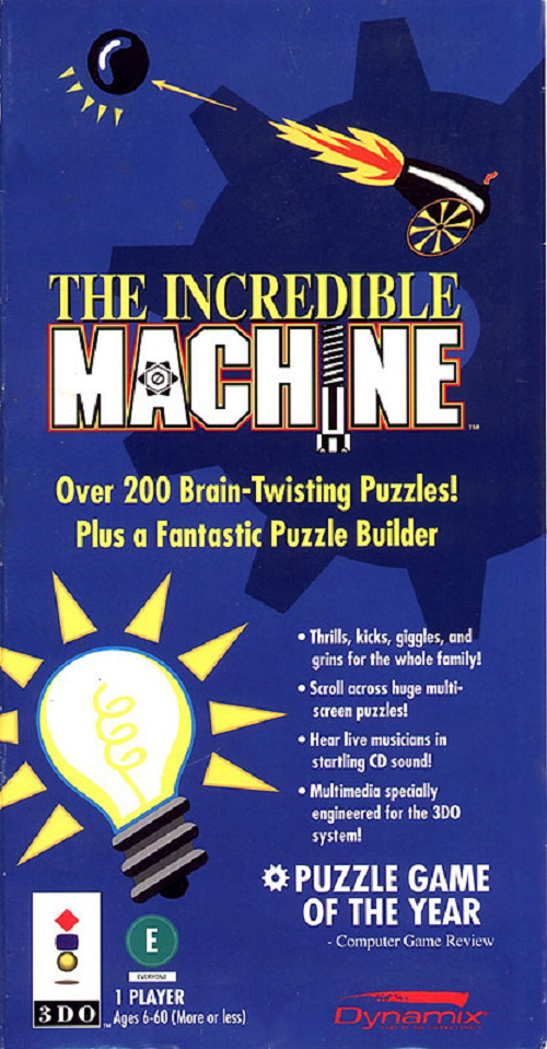 The Incredible Machine For 3DO Vintage With Manual And Case